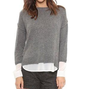 Brochu Walker the looker cashmere layered sweater